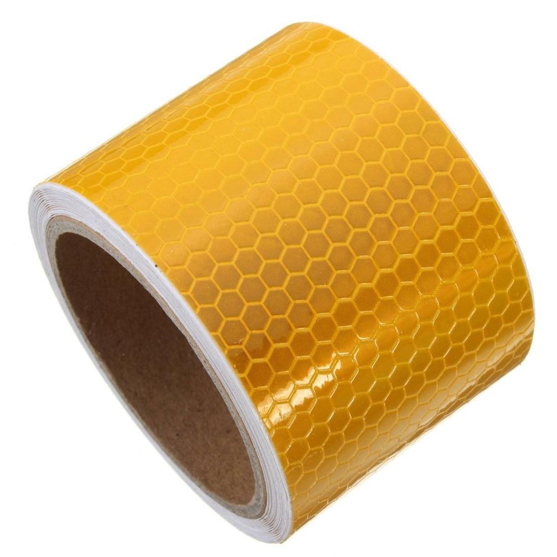 2019 Neuestes Design Mool 5 Cm X 3 M Klebeband Warnband Reflektor Band Sicherheit Band, Orange