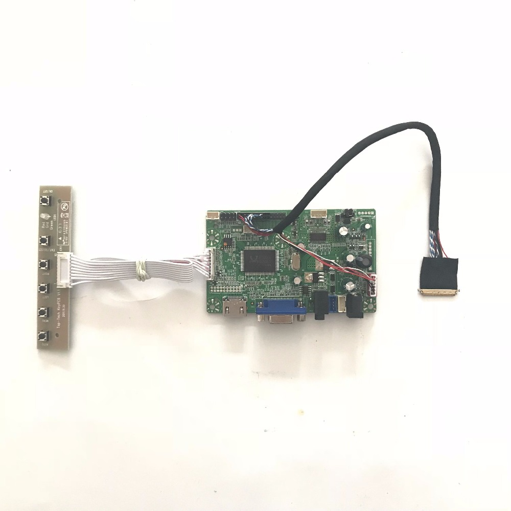 Free Shipping RTD2668 VGA HDMI LCD <font><b>Controller</b></font> <font><b>Board</b></font> DIY Kit for <font><b>B156XW02</b></font> V0 <font><b>V3</b></font> V7 15.6 inch 1366x768 LVDS LCD panel image