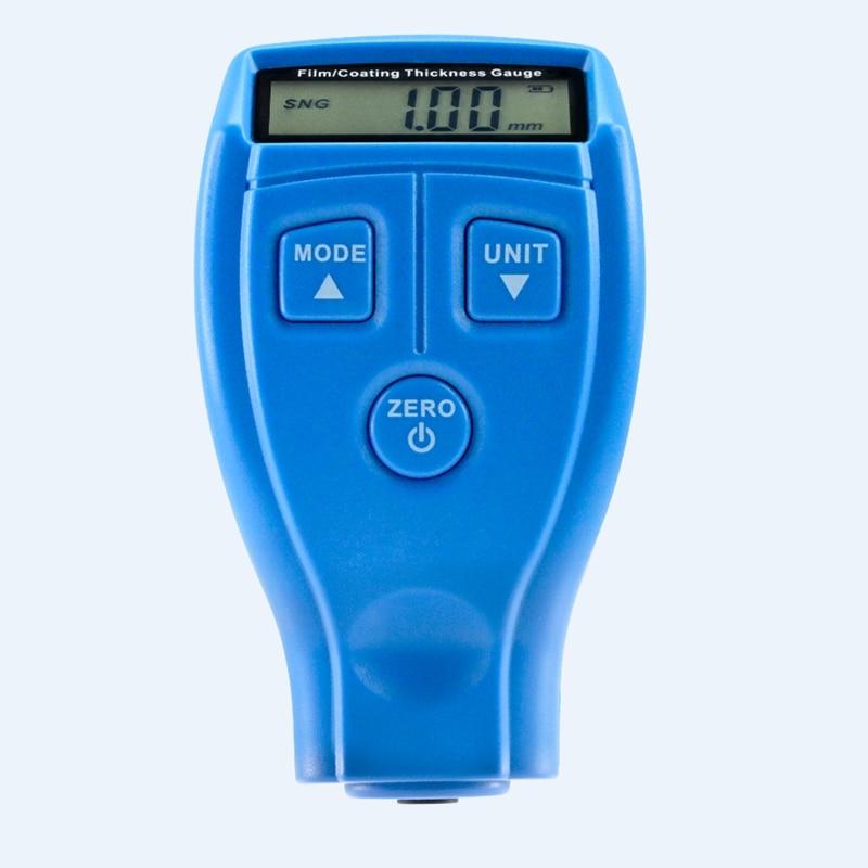 Digitális autofilm bevonat vastagságmérő Mini LCD ultrahangos autóipari Vas lakk bevonat festés vastagság szélességmérő GM200A