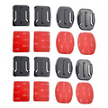 Go pro xiaoyi Accessories 4PCS Flat Adhesive Mount + 4PCS Curved Adhesive Mounts For xiaomi yi GoPro Hero 4 session 3+ 2 3 hero3