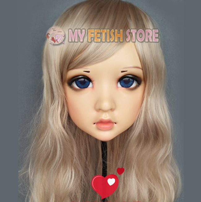 Boys Costume Accessories Kids Costumes & Accessories wo female Sweet Girl Resin Half Head Kigurumi Mask With Bjd Eyes Cosplay Japanese Anime Role Lolita Mask Crossdress Doll Durable Modeling