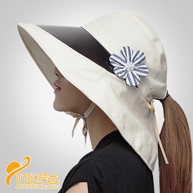 2016 Nuevos sombreros de Verano para mujeres Bloque Visera de Protección Senderismo Golf Tenis Deportes Al Aire Libre UV Sombrero de Sol Cap B-2311