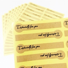 200pcs/lot Simple Especially for You Kraft Sealing Lable Sticker for DIY Gift Decor Baking Packaging Glass Jar Decor  Sticker 200pcs lot sealing sticker cowhide lollipop especially for you for gift cake baking sealing stationery sticker