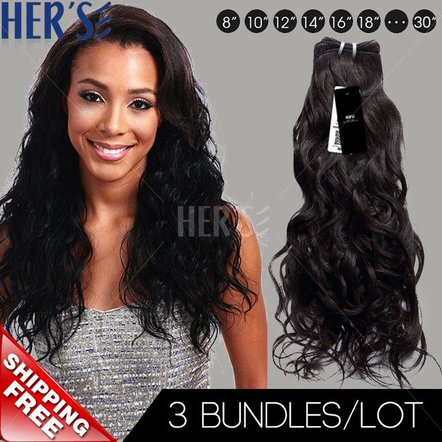 Unprocessed Indian Virgin Hair Weave100 Human Hair Extensions3pcs