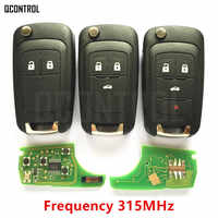 QCONTROL Car Remote Key Fit for Chevrolet Malibu Orlando Cruze Aveo Spark Sail 2/3/4 Buttons 315MHz Auto Control Alarm