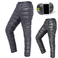 Men/Women Adult Outdoor/Camping/Hiking/Fishing Winter Thermal Warm Ultralight Grey Goose Down Pants/Trousers,Christmas Gift