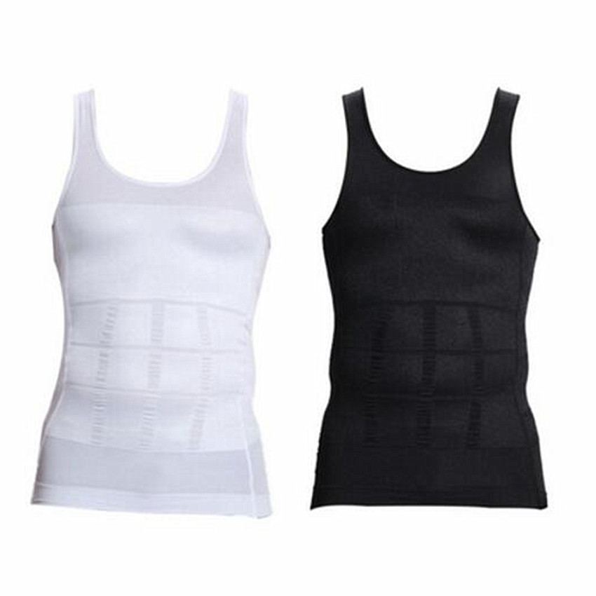 Shaper font b Men s b font Under Shirt Compression With Corrective Back Body Shaper Vest