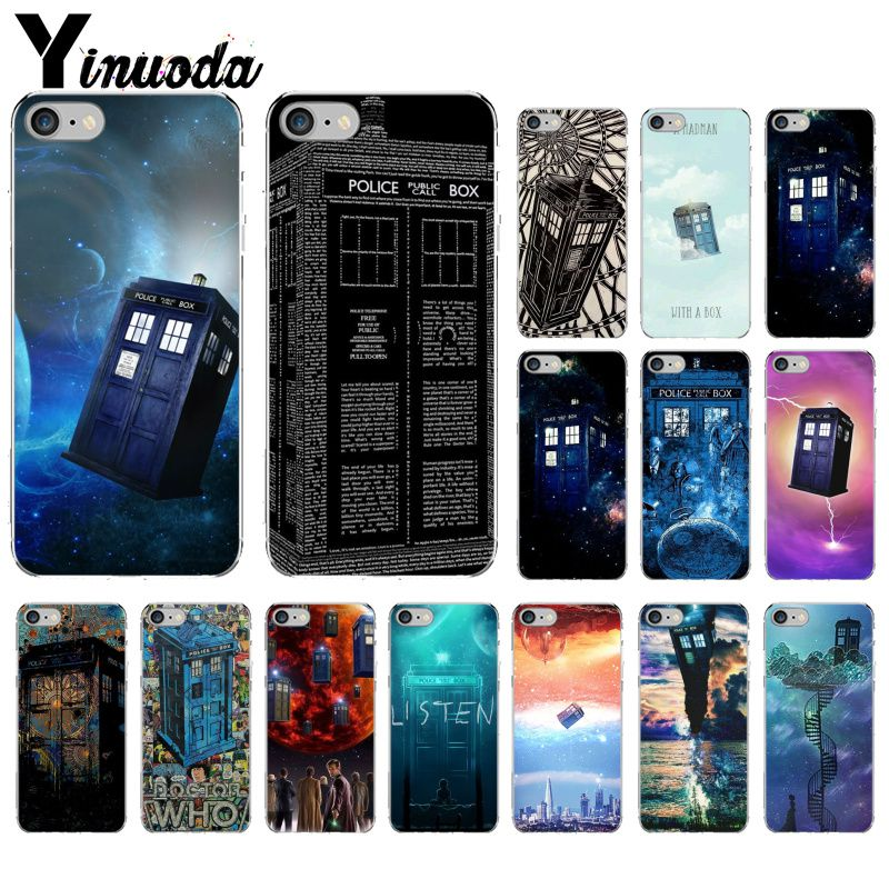 Maiyaca Tardis Box Doctor Who For Iphone 4 5c 5s 6s 7 8 Plus X Xr Xs Max For Samsung Black Soft Shell Phone Case Rubber Silicone Half-wrapped Case Cellphones & Telecommunications