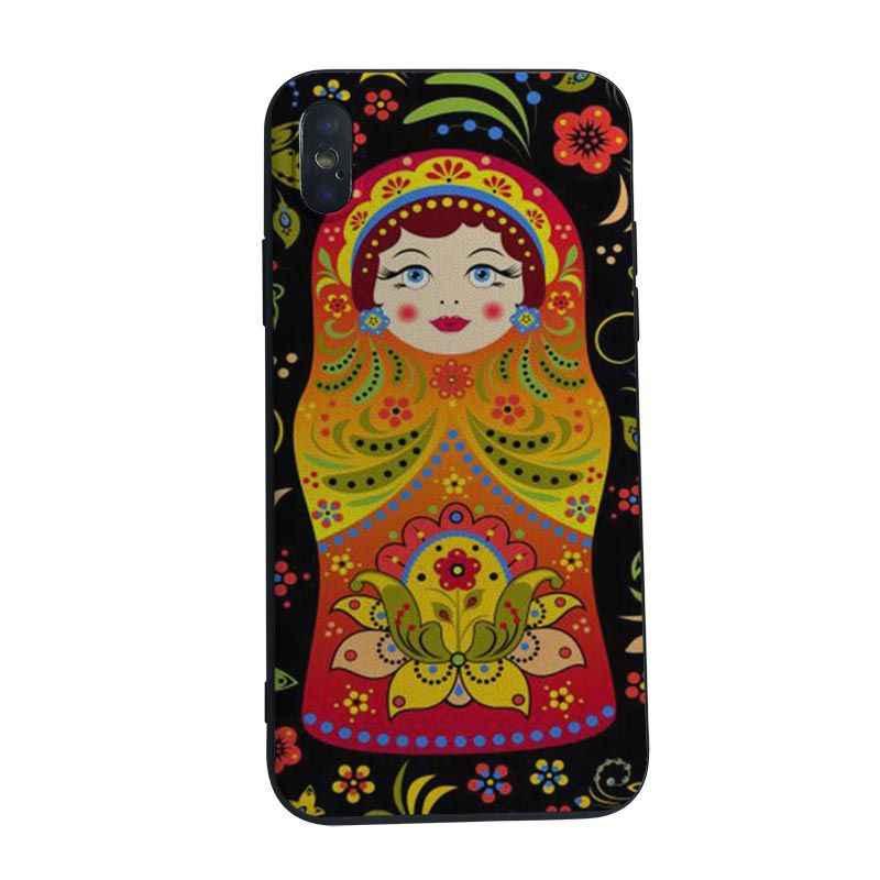 MaiYaCa poupées matryoshka russes TPU Coque arrière souple pour iphone 5 5s SE 6 6 s 7 7 plus 8 8 plus X XS XR XSMAX