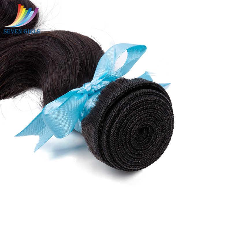 Sevengirls Grade 10A Peruanische Unverarbeitete Reine Haar Bundles Mit Frontal 13x4 Pre Gezupft Menschliches Haar Frontal Kostenloser Versand