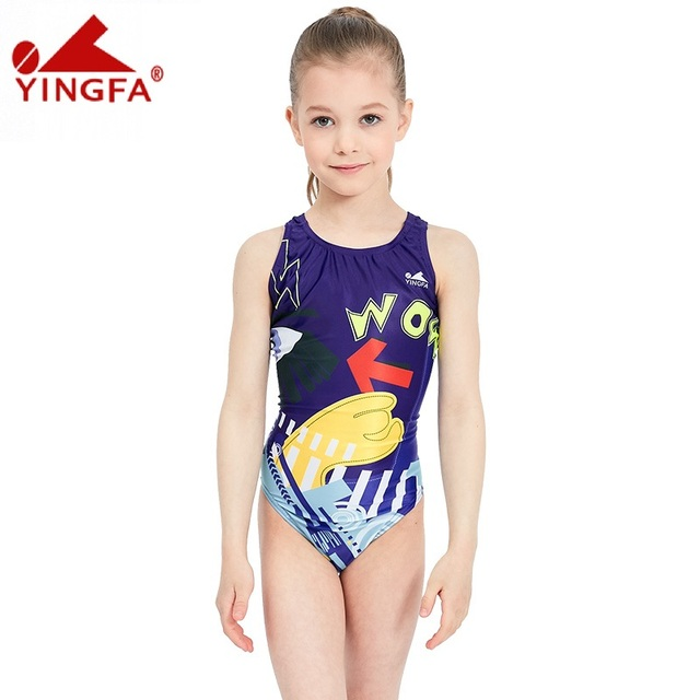 abcb6a7b8f608 Yingfa girls swimwear kids one piece swimsuits children racing bathing suits  for competition kid swimming suits professional hot