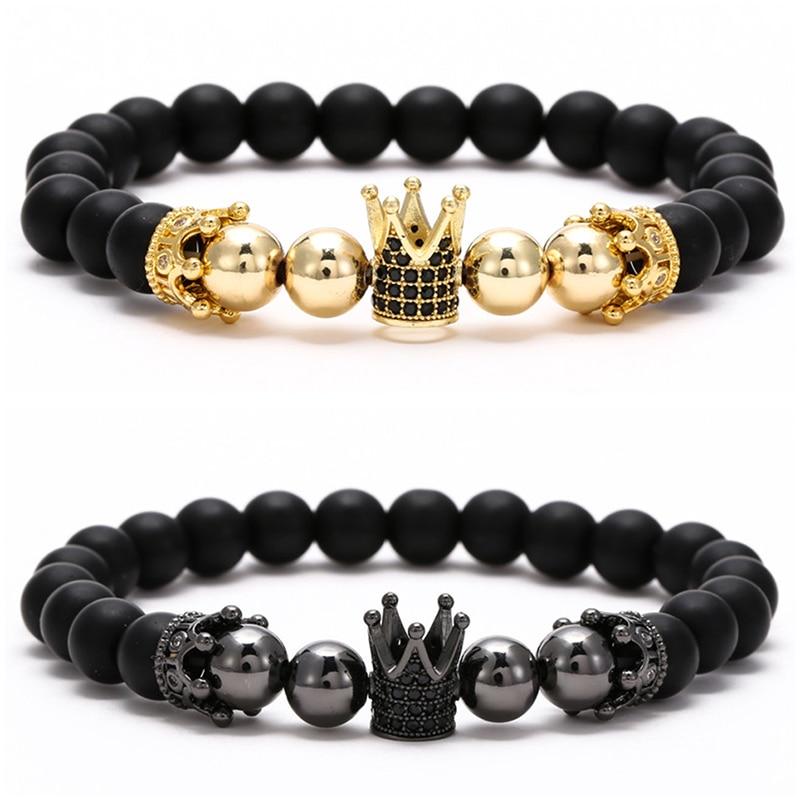 Bracelets assortis couple Roi et Reine couronne 2