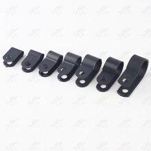 """100 шт. 5,3 мм r-тип нейлоновый кабельный зажим 3/1"""" черный r-тип кабельный зажим Кабельные Зажимы"""