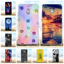 For Nokia 2.1 Phone Case Ultra Slim Soft TPU Silicone Protective Cover Scenery Patterned Coque Capa