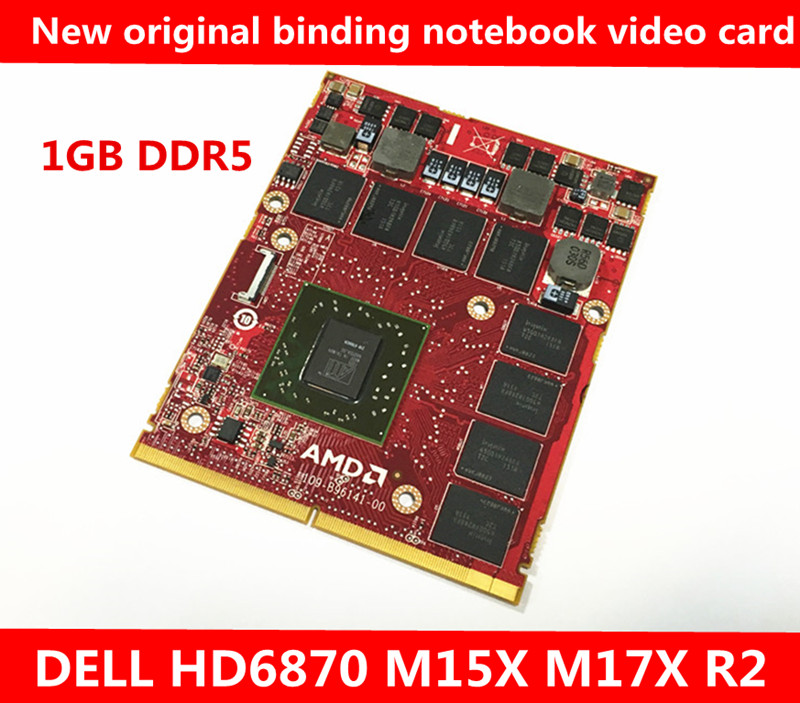 цена на New original binding DELL HD6870 M15X M17X R2 video card DDR5 1GB 216-0769024