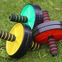 Nuovo Doppio-ruote Aggiornato Ab Addominale Presse Ruota Rulli Crossfit Gym Esercizio Attrezzature per il Body Building Fitness