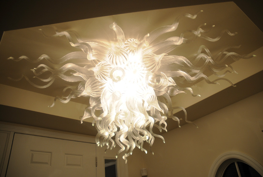 Fashion New Modern Crystal Chandelier Home Decor Blown Glass Artistic Ceiling Lamps LED Chandeliers in Chandeliers from Lights Lighting
