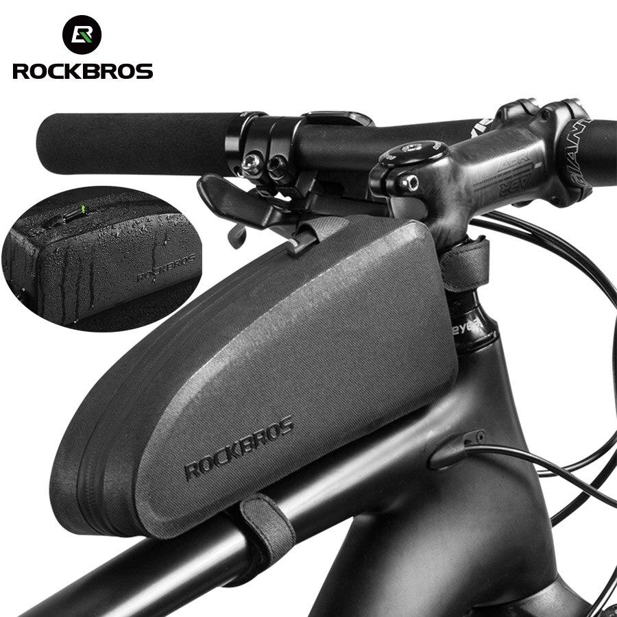 ROCKBROS Bici di Riciclaggio Della Bicicletta Top Bicicletta Tubo della Parte Anteriore Del Sacchetto Impermeabile Con Cornice Sacchetto di Grande Capacità di MTB Della Bicicletta Pannier Caso Bike Accessori