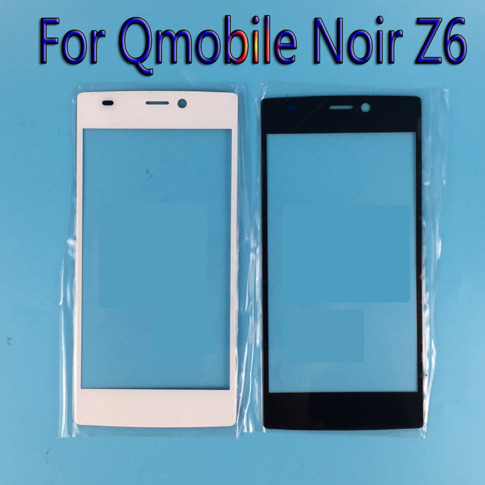 Black/White Touchscreen Sensor Touch Screen Digitizer For Qmobile Noir Z6 Mobile Phone Touch Panel Glass /Just glass