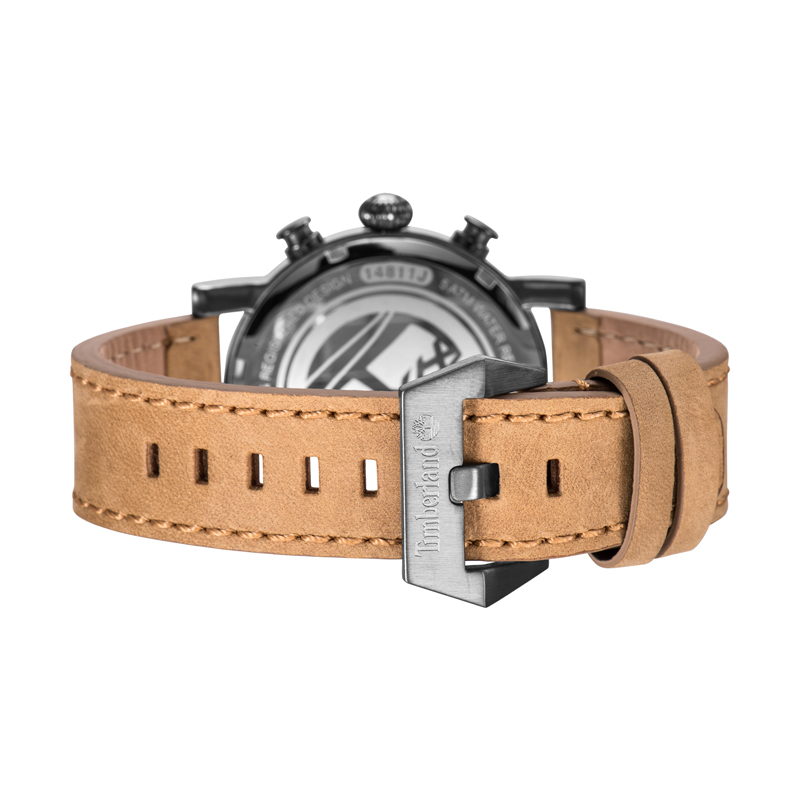 Timberland Mens Watches Casual Quartz Leather Buckle Men's Watches Chronograph Water Resistant T14811 5