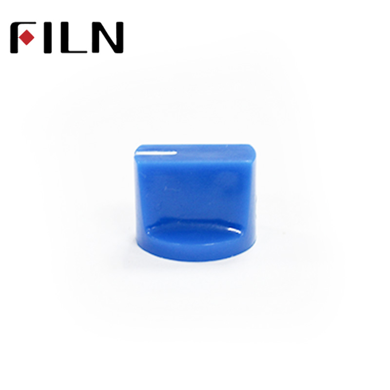 Blue 6.35mm shaft with SCREW Effector KONB Guitar Knob fluted slide Potentiometer Pedal Knobs (4)