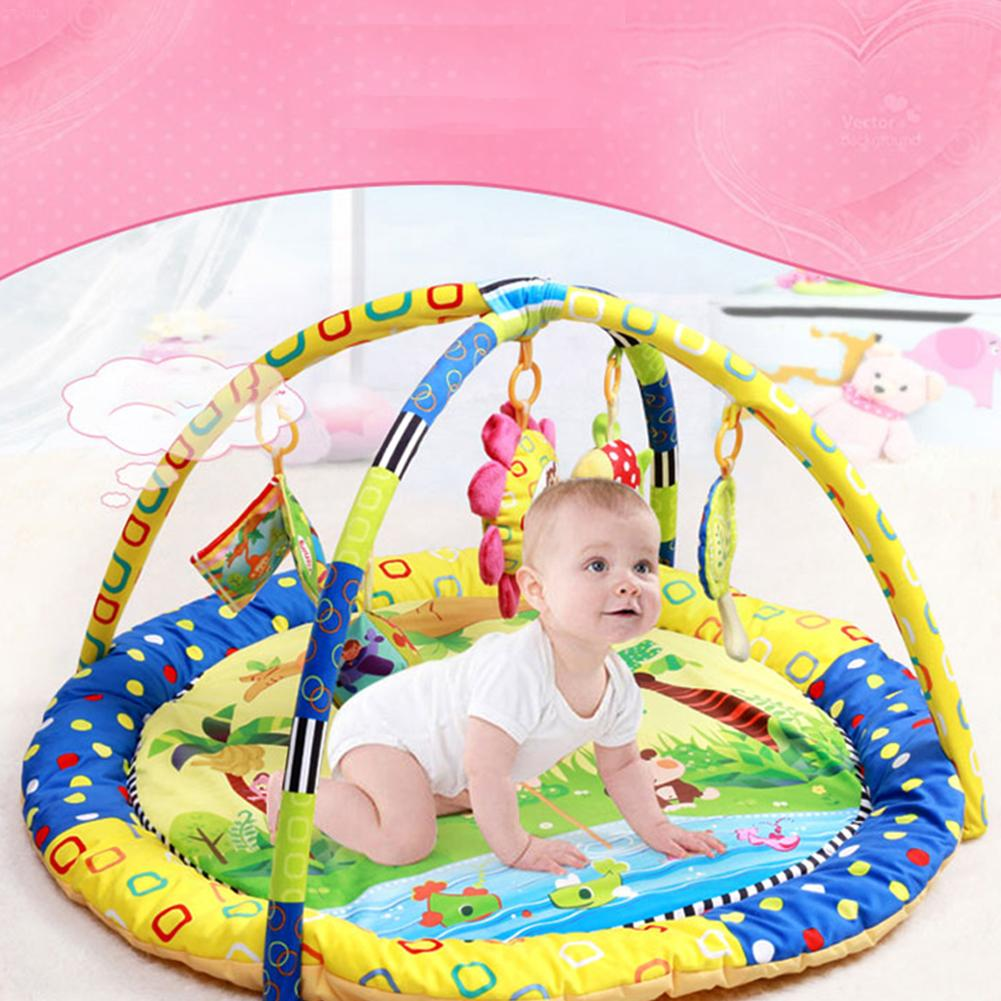 0-12 Months Baby Toy Baby Play Mat Game Tapete Infantil Frog Educational Crawling Mat Play Gym Kids Blanket Carpet