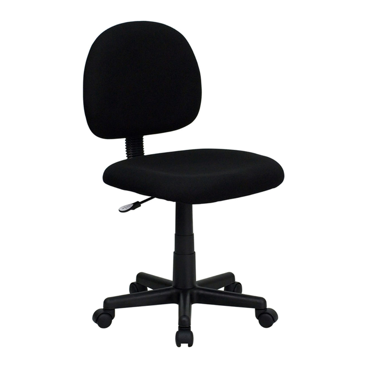 Flash Furniture Mid-Back Ergonomic Black Fabric Task Chair [863-BT-660-BK-GG] ...