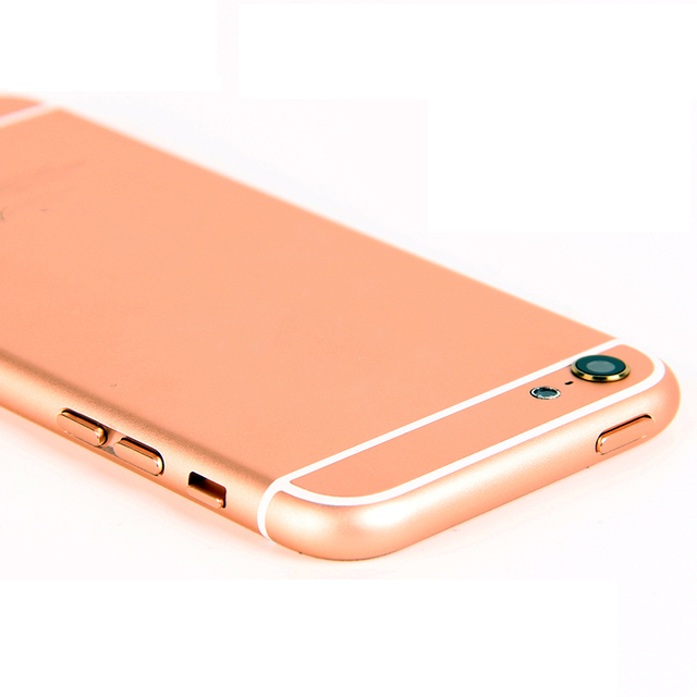 High Quality Housing Battery Door For iPhone 5 like 6 6 mini Style Back Cover With Metal Middle Frame Case, Free Shipping