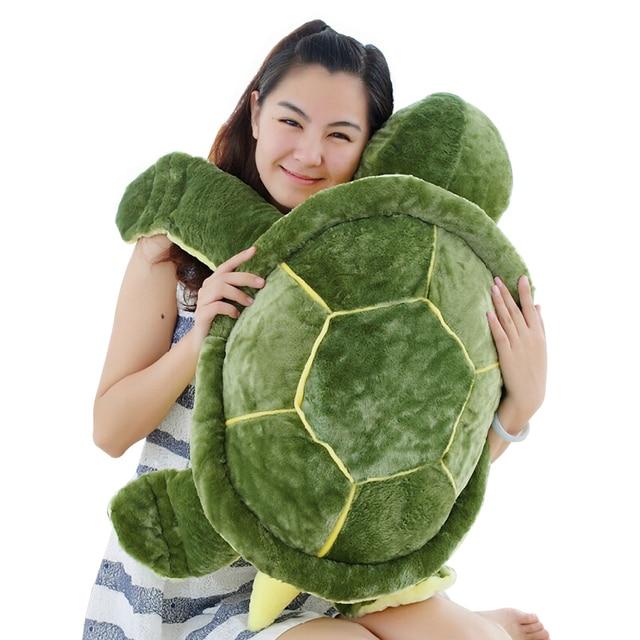 1 pc 35 cm Tartaruga Tartaruga De Brinquedo de Pelúcia Bonito Travesseiro De Pelúcia Almofada Composta para Meninas Presente do Dia vanlentine