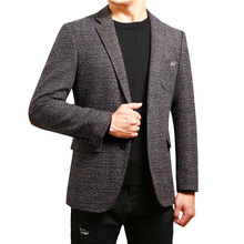 new arrival winter men's casual slim fit single button suit blazer long sleeve pocket men blazer coats dual pocket blazer