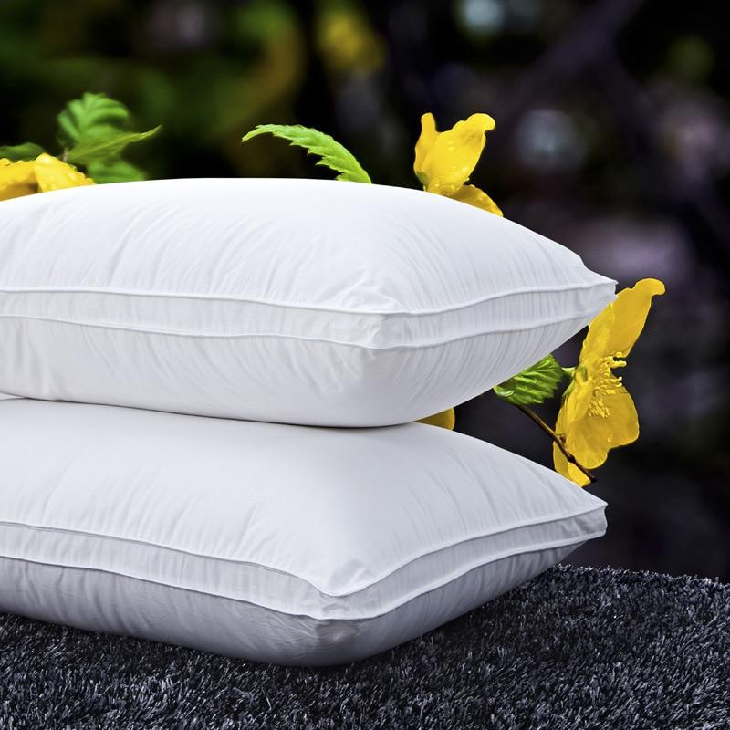 bed pillow hotel cotton neck pillows 4874cm 1pcdown light neck