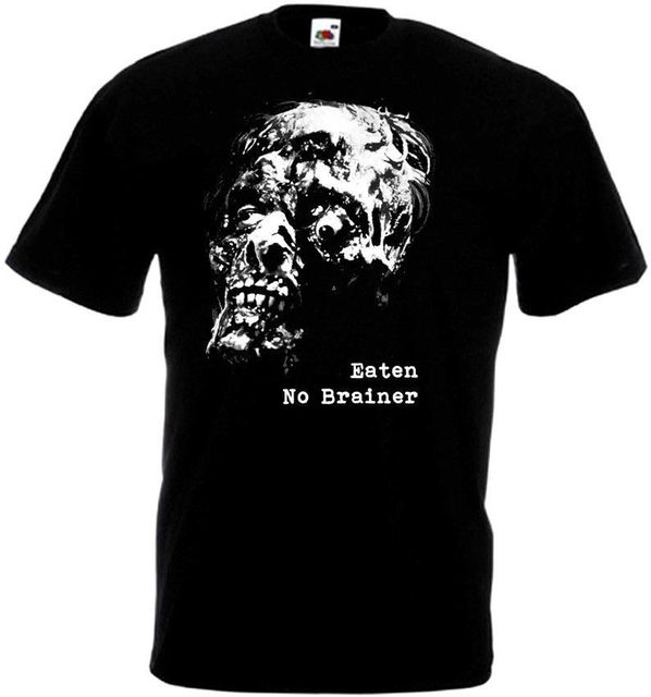 No Brainer Eaten T-shirt Black Hardcore Punk Sludge Metal All Sizes S-3XL Summer Short Sleeves Fashion T Shirt Free Shipping