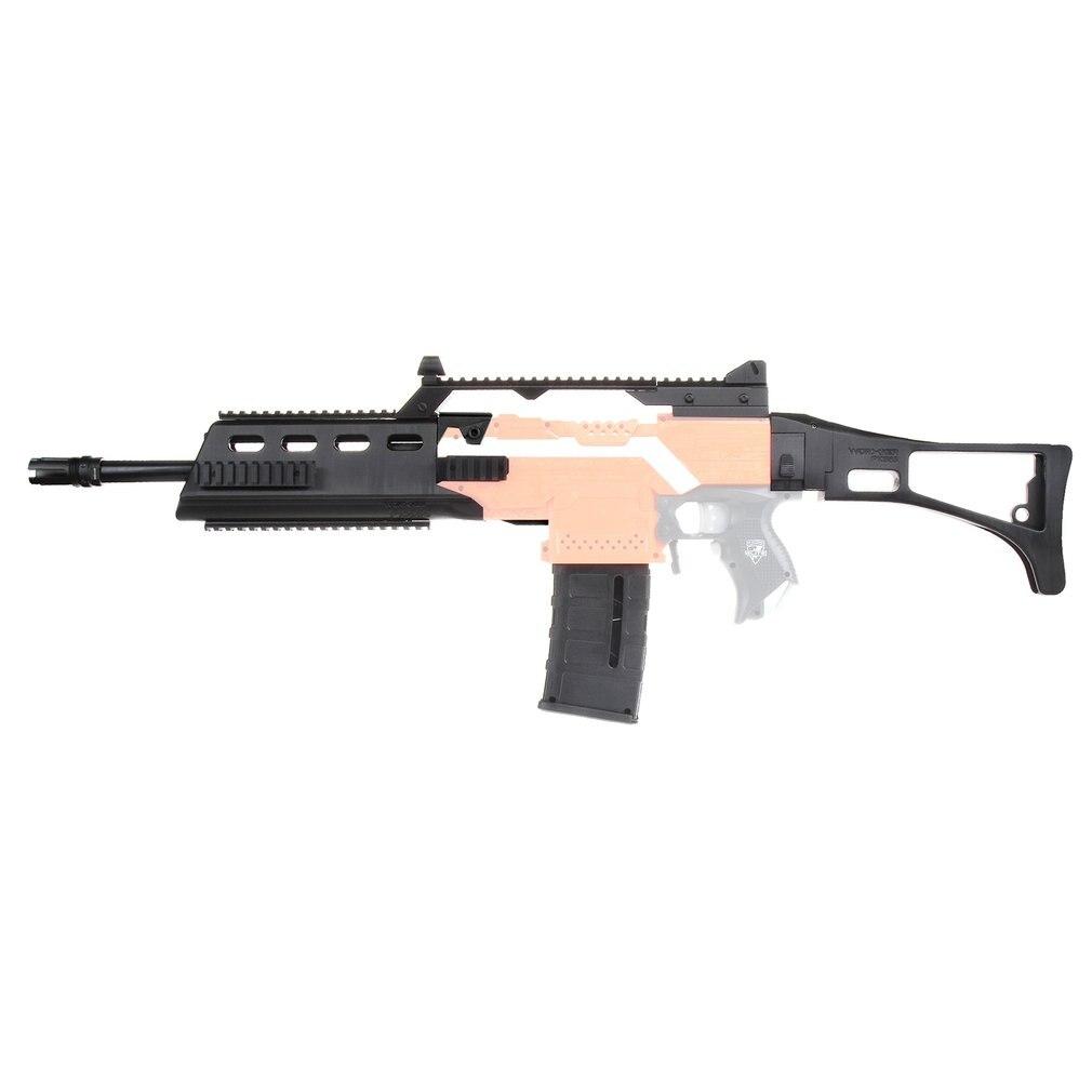 TRABALHADOR MOD F10555 G36 Rifle Kit 3D Impressão Imitação de Alta Resistência Plástico Combo Para Modificar Brinquedo Para Peças Nerf Stryfe brinquedo Accs