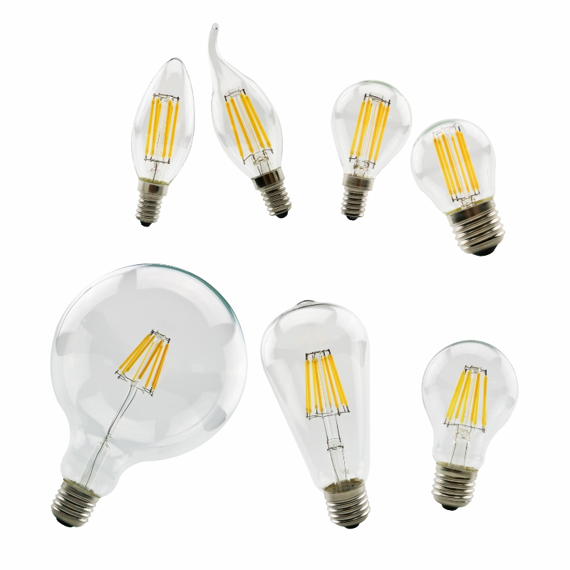 LATTUSO LED Bulb 220V LED Lamp E14 E27 LED Filament Light 2W 4W 6W 8W Glass Ball Bombillas LED Edison COB Bulb