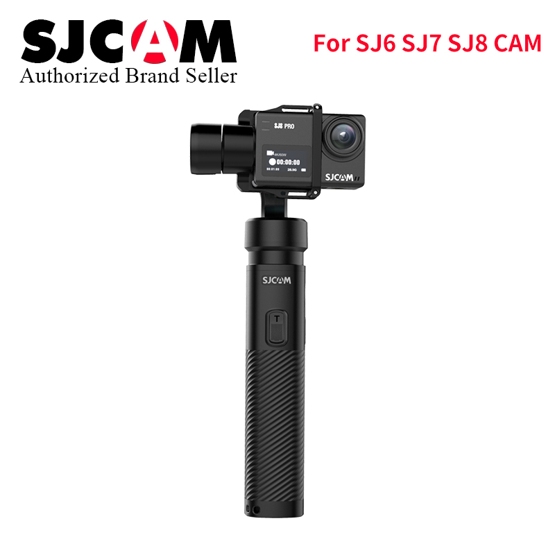 Original SJCAM Stabilizer Gimbal bluetooth Control 3-Axis Handheld monopod fr SJ6 SJ7 SJ8 Yi Hero6/5/4/3 yi 4k wifi Action Cam new arrive sjcam sj7 star sj6 legend accessies 3 axis handheld gimbal for sjcam sj6 sj7 star wifi series cam