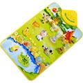 Novo aprender & educação Bebê Dos Miúdos Farm Animal Musical Música Toque em Reproduzir Cantando Ginásio Carpet Mat Toy Presente Frete Grátis