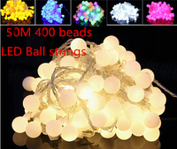 Fairy best 50m 400 twinkling LED ball string christmas lights new year holiday party wedding luminaria decoration Garland lamps