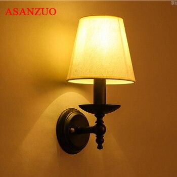 Nowoczesne krótkie badanie sypialnia kinkiety proste lampka nocna kreatywny salon ściany u nas państwo lampy