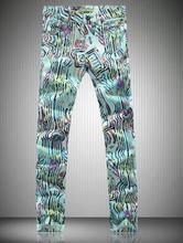 Часы англия моющийся хлопок человек брюки приталенный свободного покроя печать джинсы мужские деним джинсы мотоцикл правда джинсовый homme