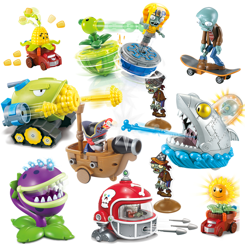 Kids Toys For Children Plants Vs. Zombies Novelty Gag Luminous Toys Funny Launch Toy Birthday New Year Christmas Gift