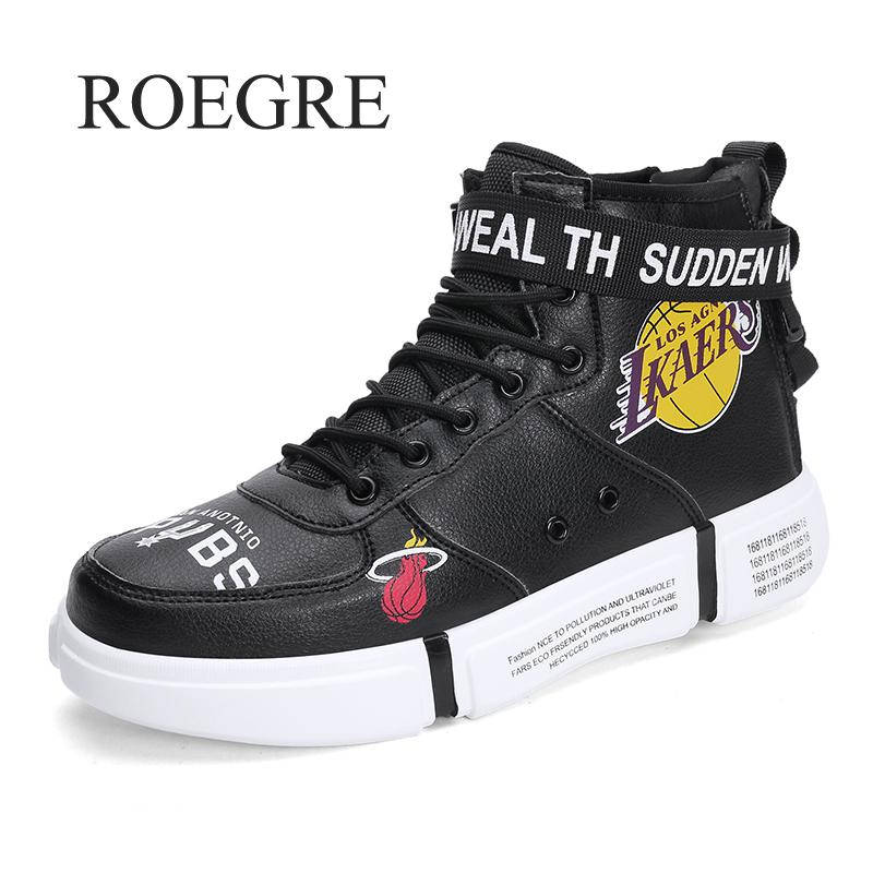 Classic Trend 2018 Outdoor Men Shoes Black High Top Lace-up Autumn Winter Casual Shoes For Men Fashion Sneakers Plus Size 39-46