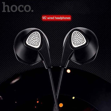 HOCO 3.5mm Earbuds Headphones High Quality Ear Buds Handsfree Noise Canceling Mobile Phones Earphone for iphone 6 apple headset