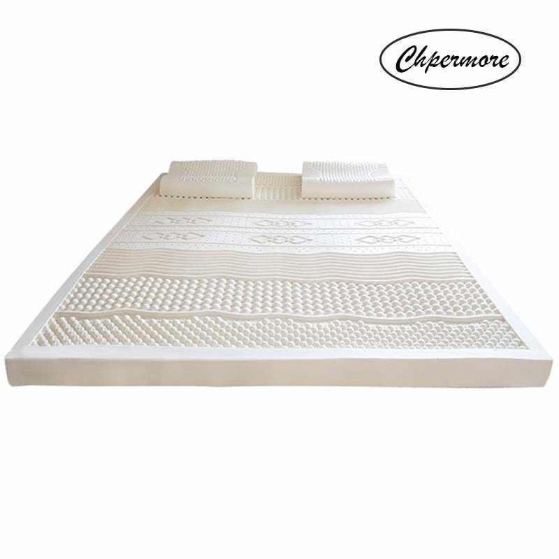 Chpermore 100% Natural latex Tatami Slow rebound Mattresses Foldable single double Tatami MattressWith a White Inner Cover