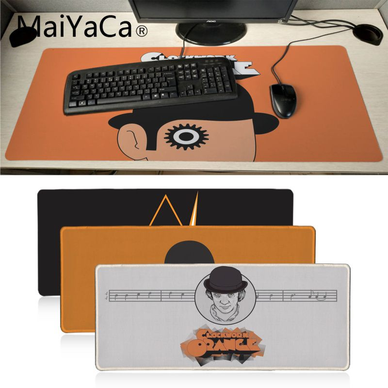 MaiYaCa Hot Sales A Clockwork Orange Laptop Gaming Mice Mousepad Large Gaming Mouse Pad Anti-slip Locking Keyboard Pad Desk Mat 900x450mm pu leather desk mouse pad large size anti slip gaming laptop keyboard mice mat office home table pad for macbook dell