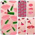 Graffiti menina kylie lábios para iphone 7 7 plus 6 6 s plus case transparente de silicone macio tpu tampa do telefone shell