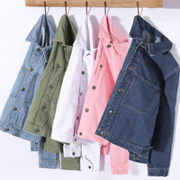 Fashion Jeans Jacket Women Spring Autumn 2XL XL Long Sleeve Turn Down Collar Denim Jacket Coat