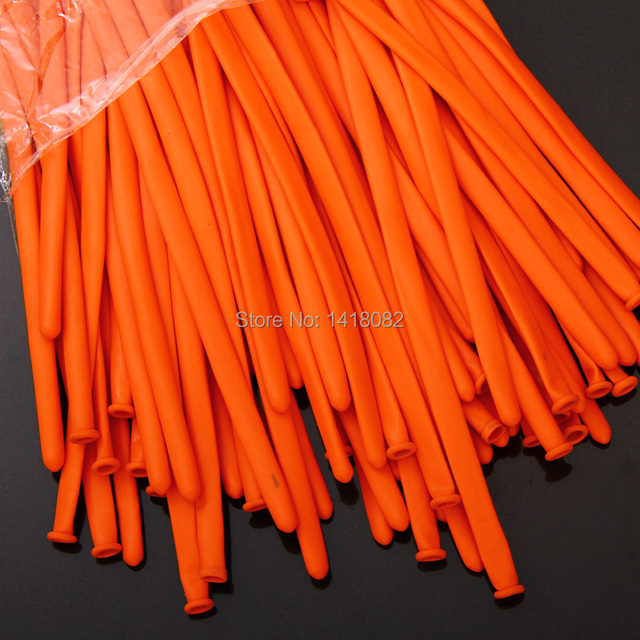 100 Latex Balloons 100piece Lot Orange Color Birthday Party Decoration Magic Baloon Orted Long Balloon