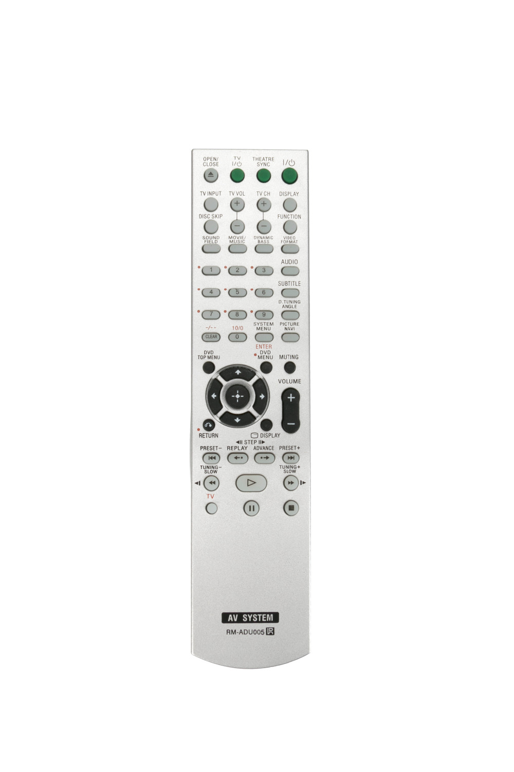 RM ADU005 Remote control for Sony DVD Home Theater System