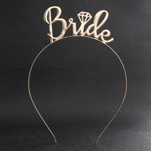 LISM Bride Letter Gold Hairband wedding Guests Flower Girl Headdress children's Crown Jewelry Wholesale