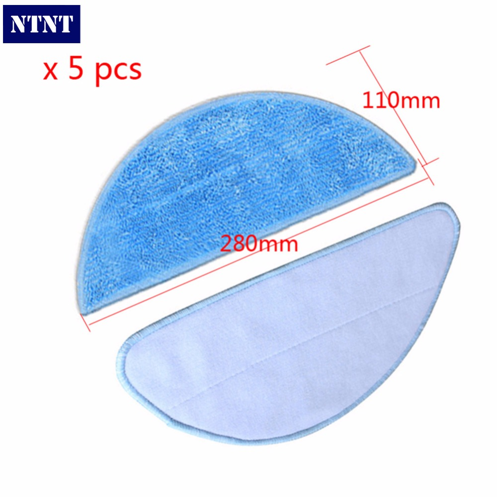 NTNT 5 pcs Mop Cloth for CHUWI V3+ ilife v5 pro V5 CW310 for chuwi ilife v5 intelligent robotic vacuum cleaner